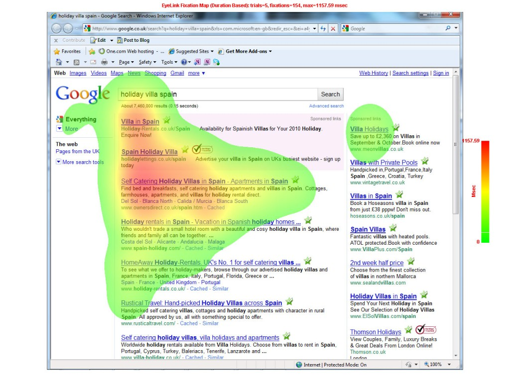 heat map serp eye tracking